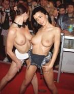 Jenifer Bartoli Topless Red Carpet Event Naked 001