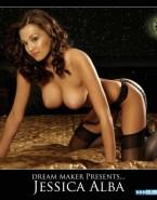 Jessica Alba Lingerie Big Tits Naked Fake 001