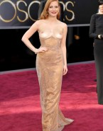 Jessica Chastain Breasts Public Nsfw Fake 001