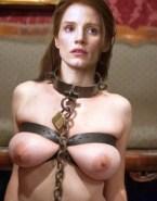 Jessica Chastain Squeezing Tits Bondage Fake 001