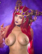 Jessica Nigri Cosplay Breasts Exposed Nudes 001