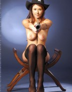 Jewel Staite Stockings Tits Fake 001