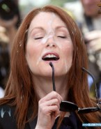 Julianne Moore Public Facial Cumshot 001