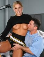 Julie Bowen Skirt Rubs Vagina Naked 001