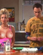 Kaley Cuoco Flashing Tits Big Bang Theory Fake 002