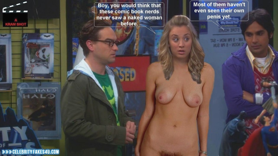 big bang theory kaley cuoco nude
