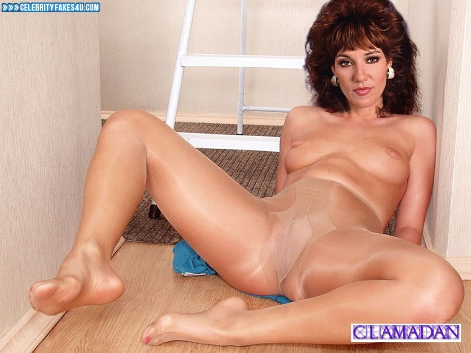 Katey sagal carefully polishes and sits on a big and firm cock