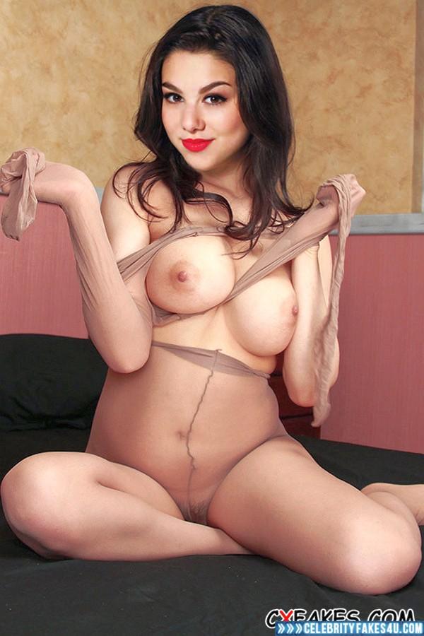 Kira Kosarin Fake, Big Tits, Lipstick, Stockings, Porn