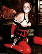 Leighton Meester Latex Hot Outfit Nsfw Fake 001