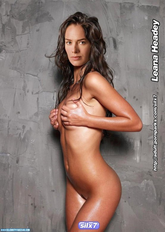 Lena Headey Fake, Completely Naked Body / Fully Nude, Squeezing Breasts, Wet, Porn