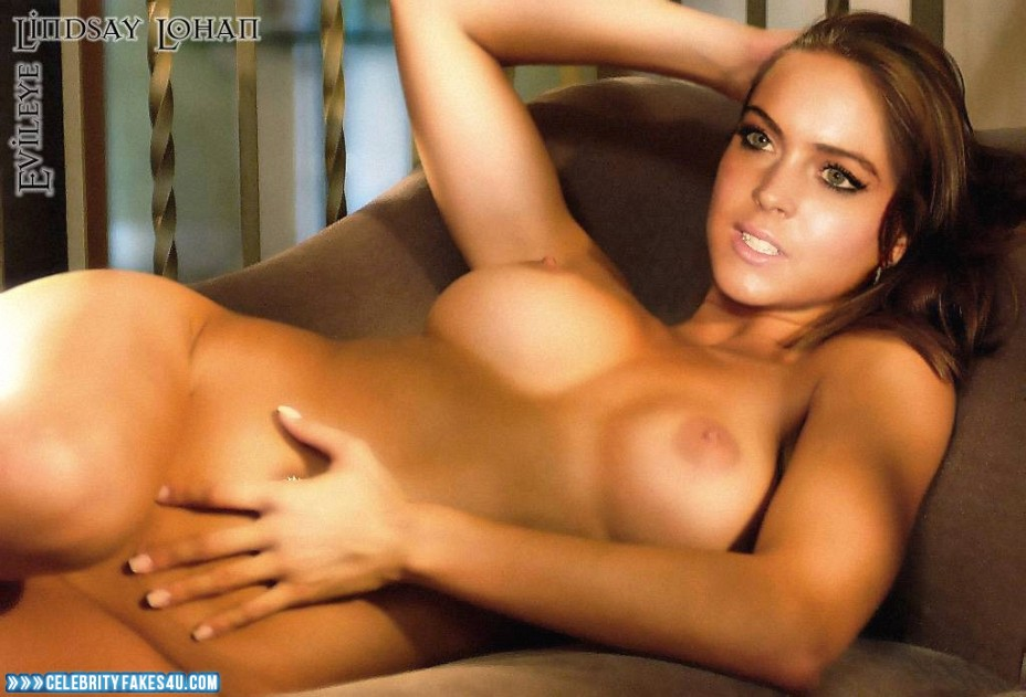 Lindsay Lohan Fake, Completely Naked Body / Fully Nude, Porn