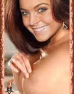 Lindsay Lohan Perfect Tits Pinching Nipples Nsfw 001