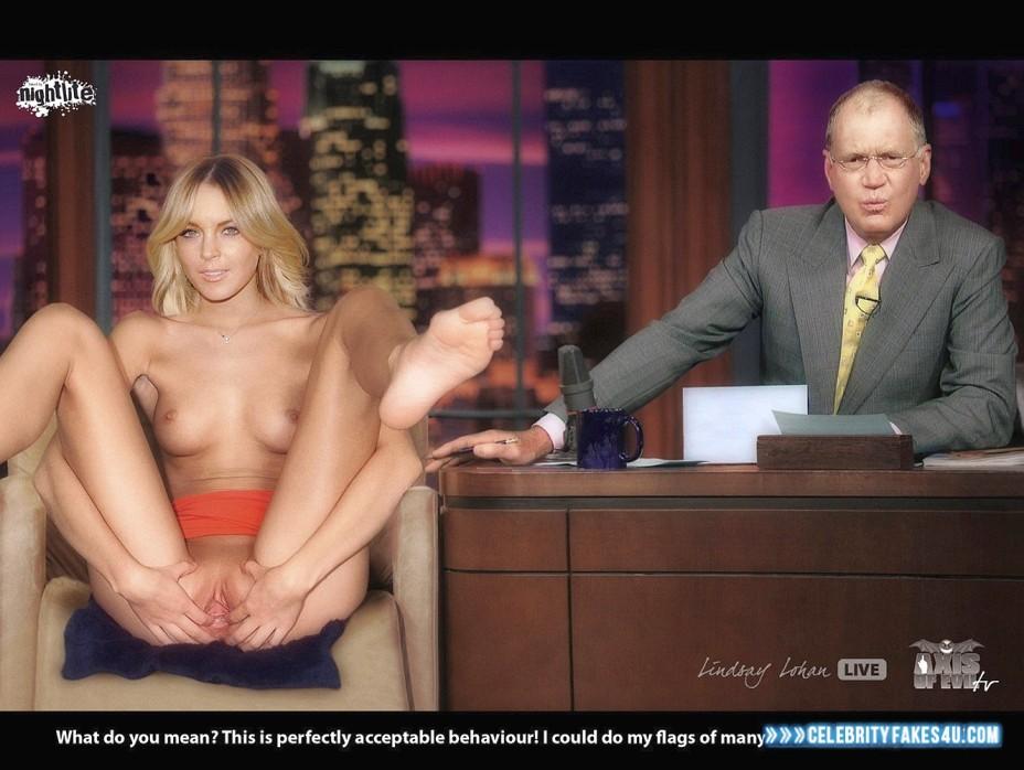 Lindsay Lohan Fake, Public, Pussy Spread, Porn