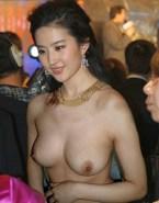 Liu Yifei Boobs Exposed Public Nude 001