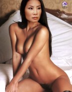 Lucy Liu Nice Squeezing Tits Fakes 001