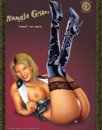 Maggie Grace Boobs Flash Movie Cover Nude Fake 001