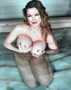 Marcia Cross Pool Boobs Squeezed 001