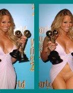Mariah Carey No Underwear Red Carpet Porn 001