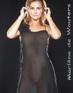 Marlene De Wouters Camel Toe See Thru Nsfw Fake 001
