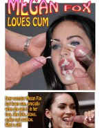 Megan Fox Loves Drinking Cum Cumshot Facial Sex 001