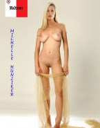 Michelle Hunziker Completely Naked Tits Exposed 001