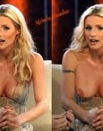 Michelle Hunziker Large Tits Public 001