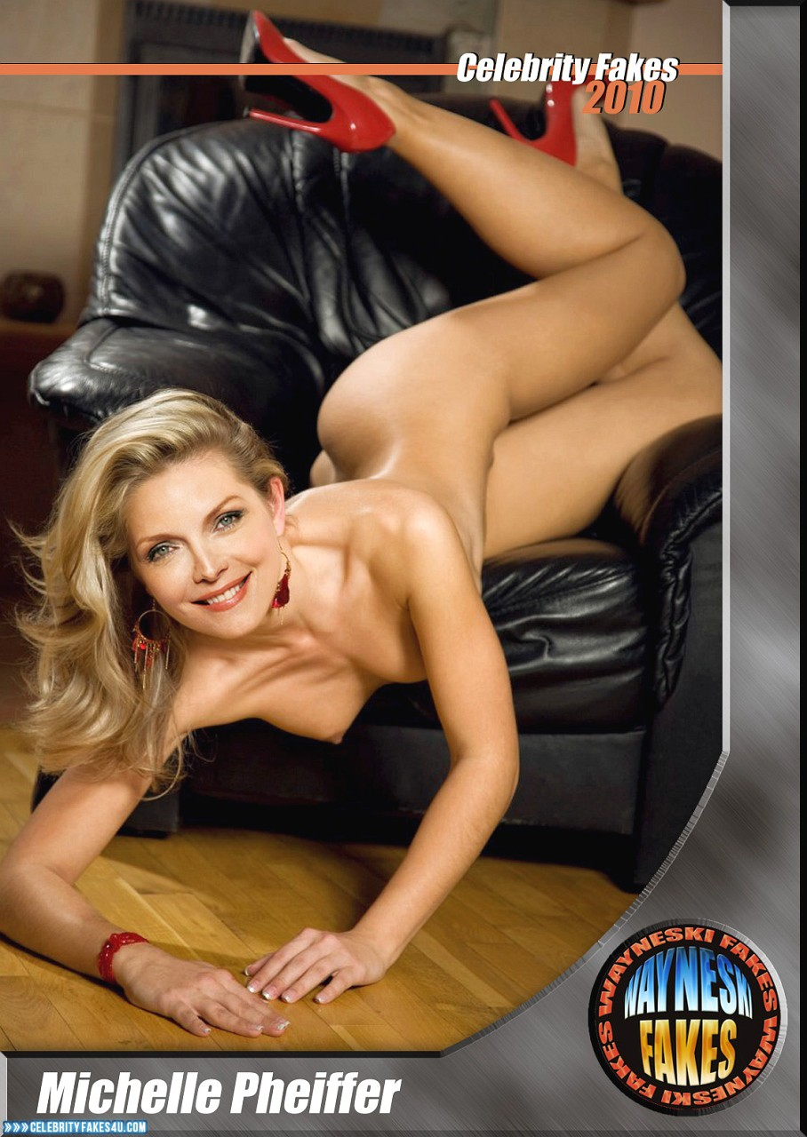 Michelle Pfeiffer Fake, Completely Naked Body / Fully Nude, Heels, Sexy Legs, Porn