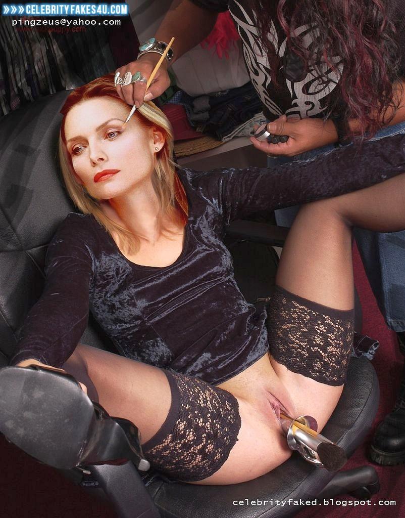 Michelle Pfeiffer Fake, Legs Spread, Sex Toy, Stockings, Porn