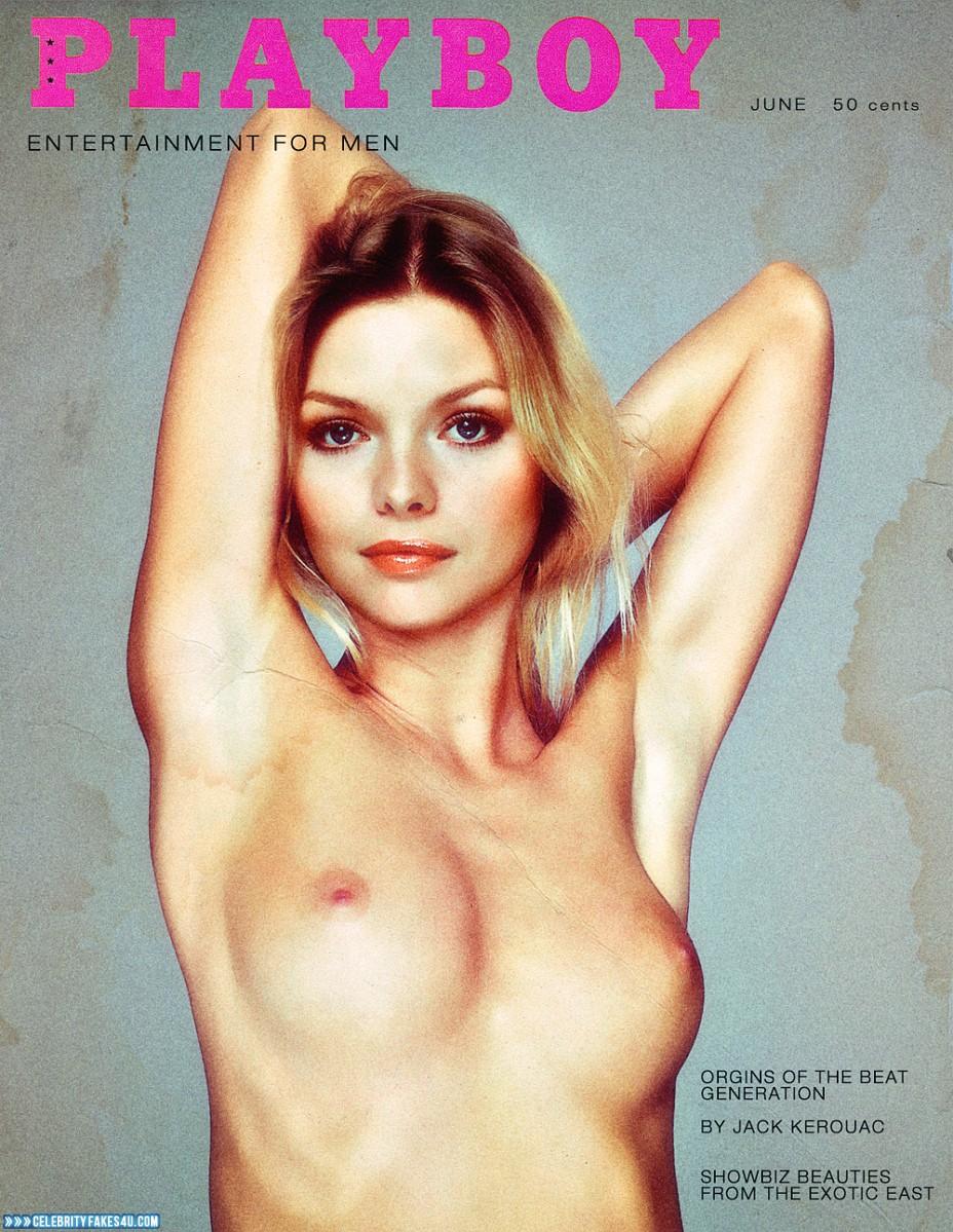 Michelle Pfeiffer Fake, Magazine Cover, Playboy, Tits, Porn