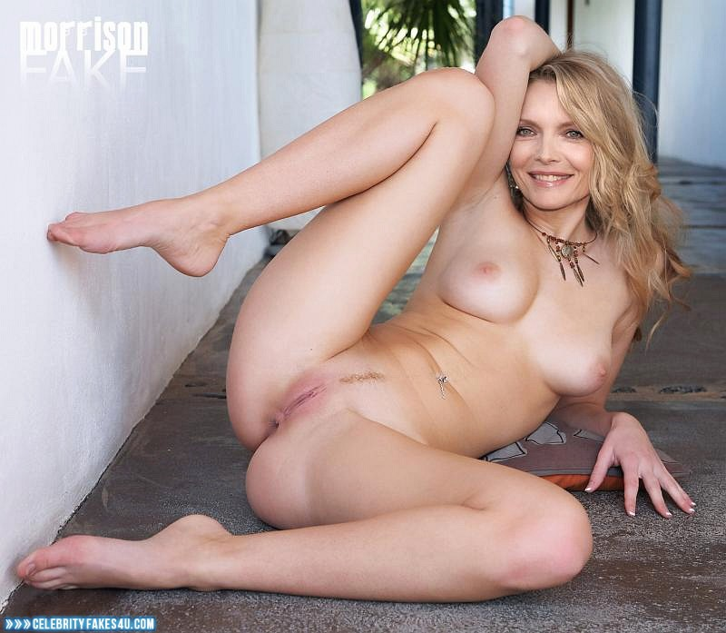 Michelle Pfeiffer Fake, Ass, Legs Spread, Sexy Legs, Shaved Pussy, Very Nice Tits, Porn