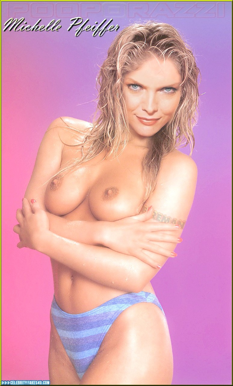Michelle Pfeiffer Fake, Squeezing Breasts, Topless, Undressing, Porn
