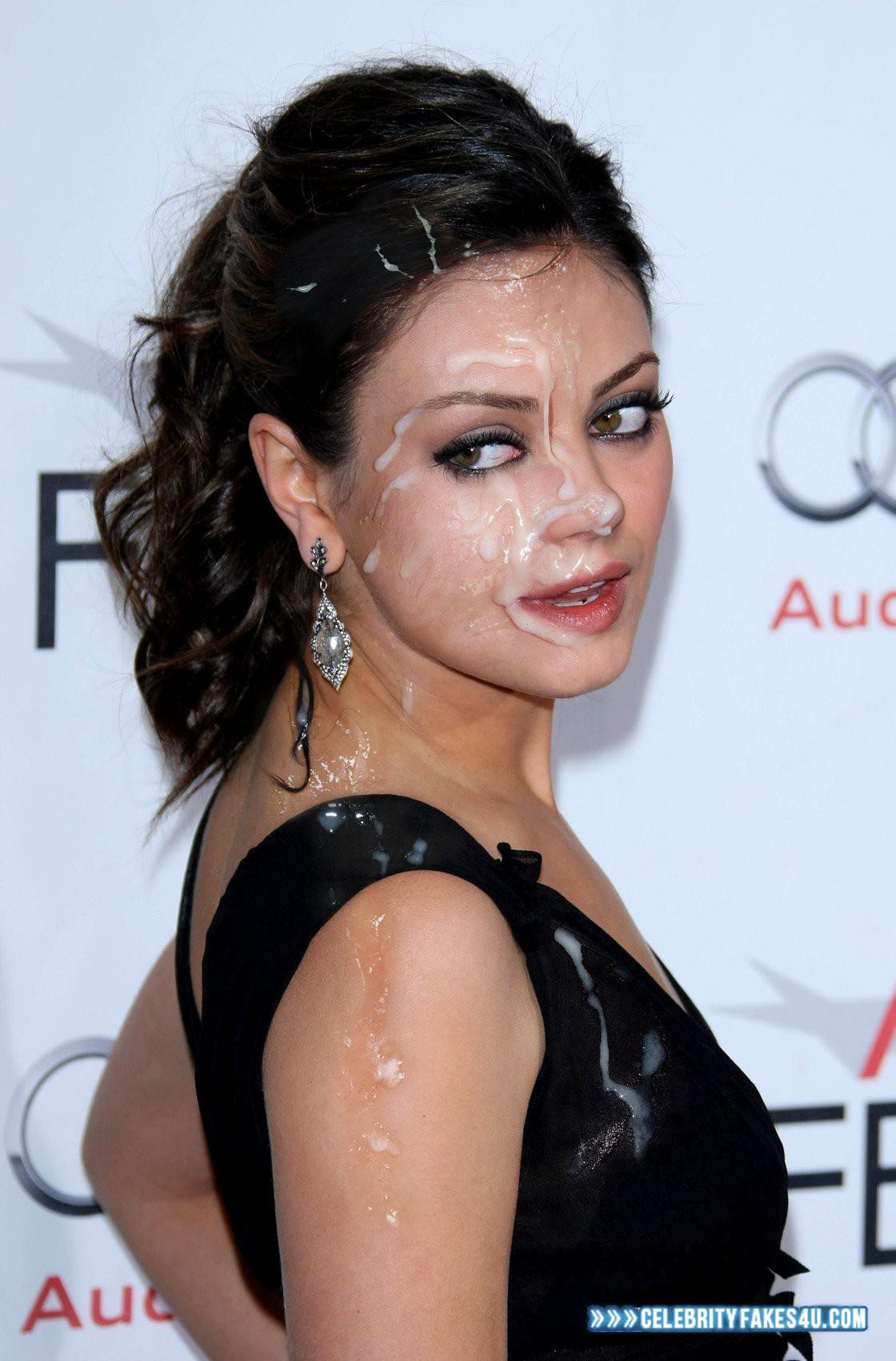 Mila Kunis Huge Cumload Cumshot Facial Naked 001