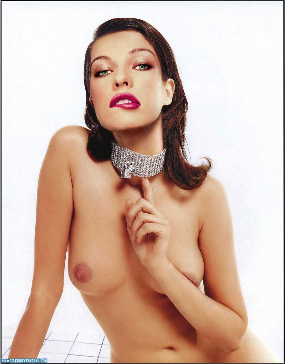 Milla Jovovich Fake, Tits, Porn