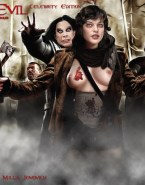 Milla Jovovich Breasts Resident Evil 001