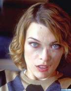 Milla Jovovich Cumshot Facial Porn 001