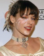 Milla Jovovich Cumshot Facial Red Carpet 001