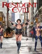 Milla Jovovich Lesbian Hot Tits Nudes 001