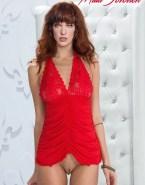 Milla Jovovich Lingerie Pantiless Nudes 001