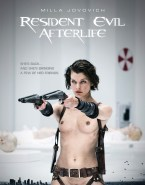 Milla Jovovich Movie Cover Resident Evil Nsfw 001