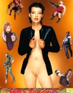 Milla Jovovich No Panties Naked 001
