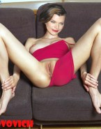 Milla Jovovich Pussy Exposed Pantiless 001