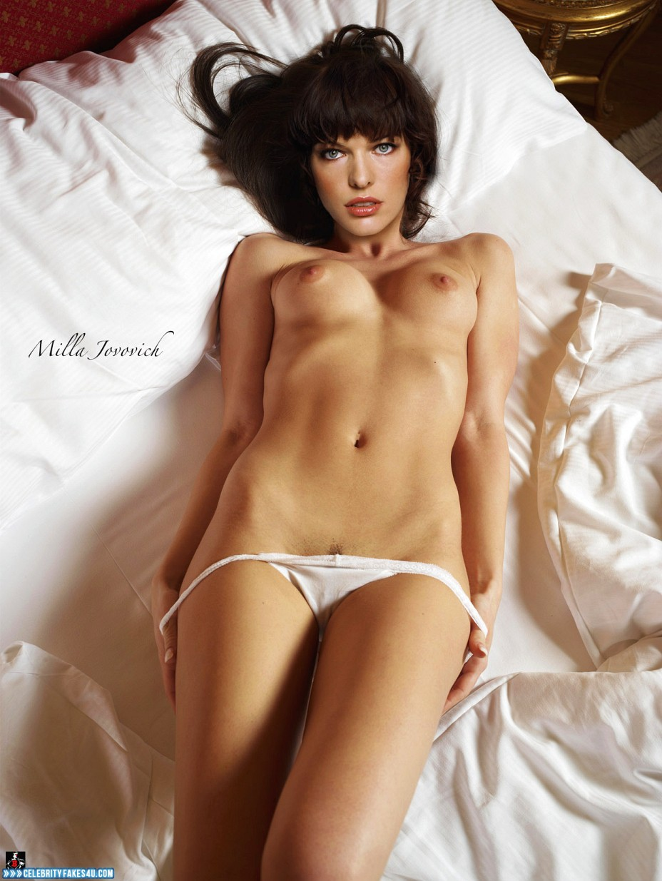 Milla Jovovich Fake, Panties Pulled Down, Topless, Undressing, Porn