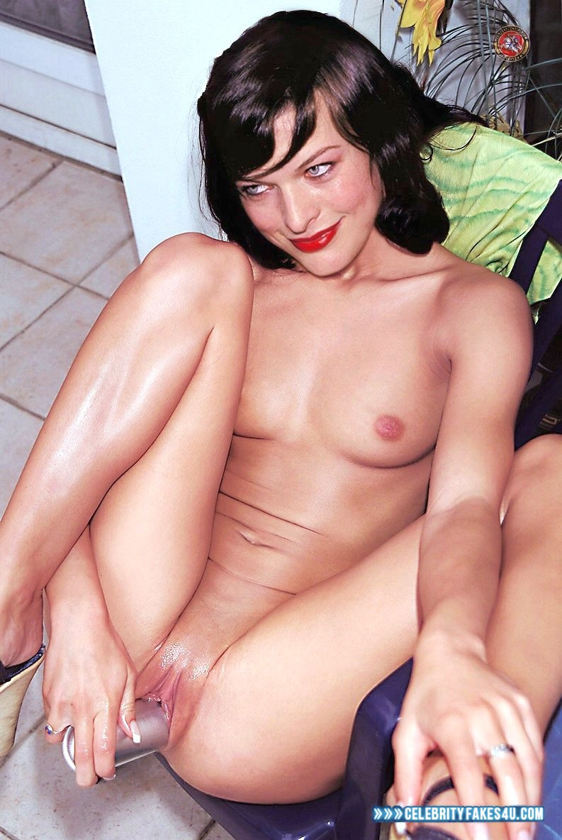Milla Jovovich Fake, Sex Toy, Tits, Wet, Wide Pussy, Porn
