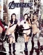 Gwyneth Paltrow - Natalie Dormer - Natalie Portman - Scarlett Johansson - Summer Glau - Avengers Porn Fake-001