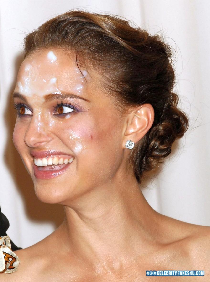 Natalie Portman Fake, Cum Facial, Cumshot, Porn