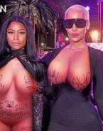 Nicki Minaj Lesbian Huge Tits Nsfw Fake 001