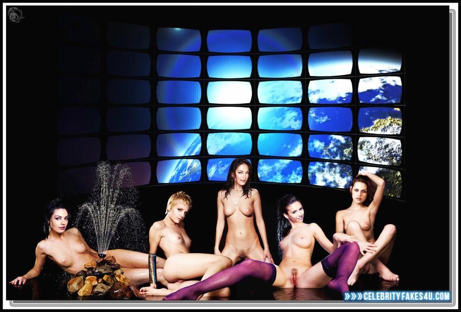 Nina Dobrev Fake, Legs Spread, Lesbian, Multi, Nude, Tits, Porn