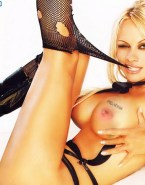 Pamela Anderson Stockings Boobs Squeezed 001