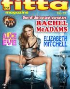 Rachel Mcadams Magazine Cover Panties Aside Exposing Pussy Porn 001
