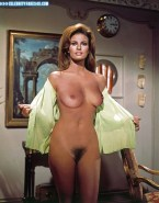 Raquel Welch Undressing Exposing Boobs Naked 001